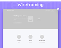 Wireframes - Upcoming Charity Social Web App