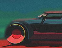 Future hotrod in desert \ 2017
