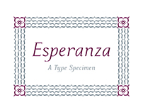 Esperanza: A Calligraphic Typeface