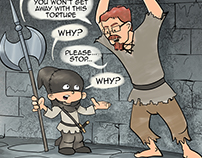 Dad vs the Threenager webcomic. Strip#10 - Why?