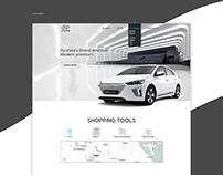 Hyundai web design concept