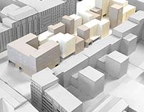 housing group in paris-la villette