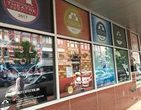 Adirondack Theatre Festival 2017 Window Banners