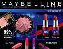 Infográfico de Facebook da Maybelline Brasil