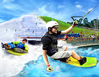 snowboarding, skiing, wakepark... poster