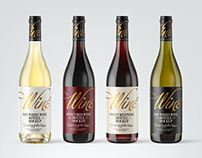 7 Wine Bottles PSD Mockups