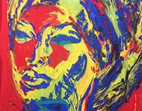 Africana Vermelho e Azul