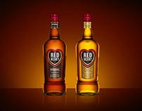 Red Heart Rum Packaging