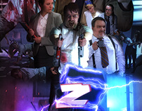 Z-OFFICE 80s Movie Poster Design