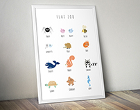 "Collection ""Flat Zoo"" - Poster ""Noah's Ark"""