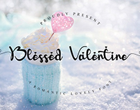 Free Blessed Valentine Script Font