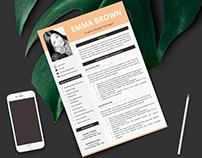 Modern & Professional CV / Resume template instant DL