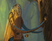 Robot and biotech forest