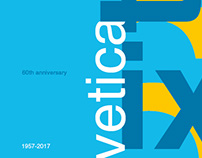 60th Helvetica Typeface (Tribute Project)