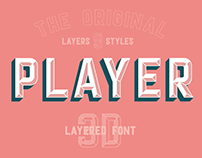 Player layered font