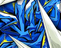 CRACKED BLUE