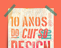 10 Anos do Curso de Design da UFRN | Poster