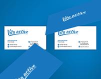 VitaActive logo design
