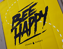 Bee Happy Salford Bee Collective Bee-Happy poster