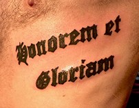 Personal Lettering Tattoos Works