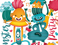 MonsterParty. Ilustración infantil