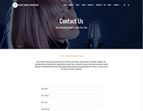 Contact Page - Music WordPress Theme