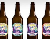 """Etiquette de bière """"La bière du Wagon"""""""