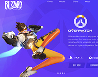 Overwatch landing page redesign