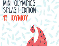 FUN FAMILY OLYMPICS-SPLASH PROJECT POSTER