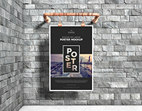 Industrial Advertising Poster Mockup Free