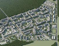 Residential area in Kopischa (Minsk district, Belarus)