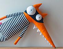 Crazy cute stuffed soft fox Child friendly handmade