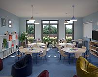 Kindergarten in Lipno, Poland. Design and visualization
