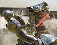 Jousting for Scholastic's Action magazine
