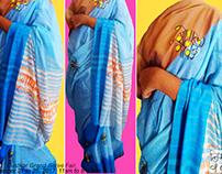 Govinda gopala calligraphy handloom saree