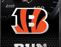 Cincinnati Bengals Locker Room Slap Plate