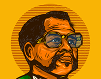Oliver Tambo T-shirt Illustration