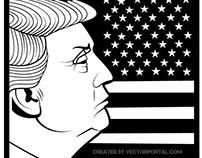 Donald Trump vector image.