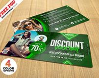 Apparel Discount Coupon PSD Set