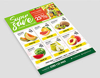 Supermarket Promotion Flyer - Product Catalog Flyer