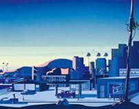 Los Angeles cityscape - private commission