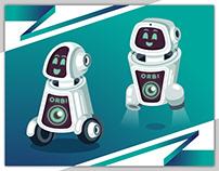 "The Futuristic ""ORBI"" Robot-assistant"