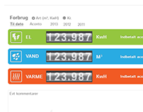 UI concepts, energy monitoring