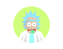 Round Icons VII: Rick and Morty
