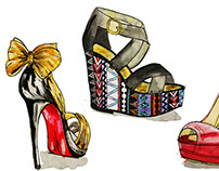 Fashion high heel illustrations
