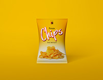 Free Chips Bag Mockup PSD Vol 1