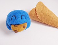 """Scoopsie Cookie Monster"", ice cream scoop Art Toy"