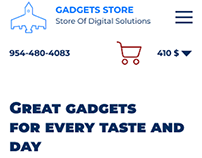 Mobile version of the online gadget store