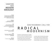 Modernism - Typographic Plate