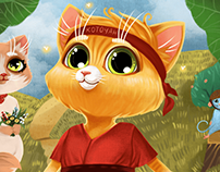 Children's book illustration about Cat